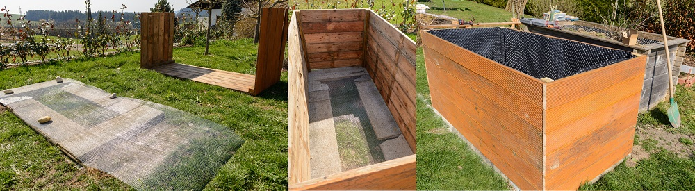 building a raised garden bed with drainage
